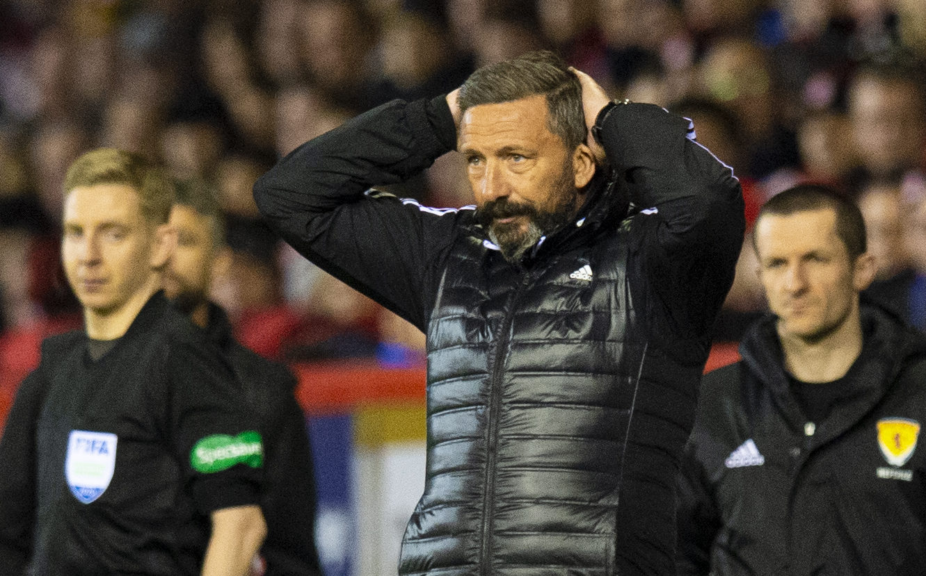 Derek McInnes was not a happy man in midweek