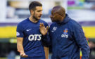 Kilmarnock's Gary Dicker with boss Alex Dyer