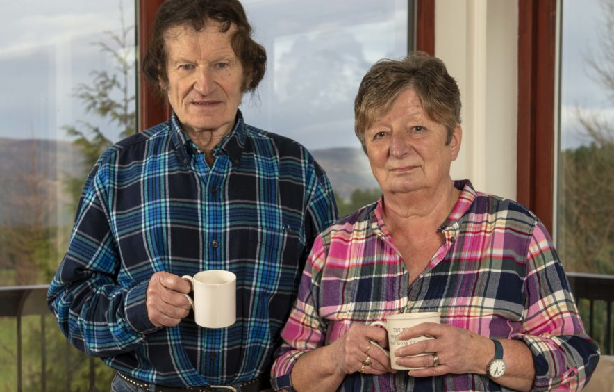 John and Lynda Gordon, at home in Dornoch, lost £95,000 of savings