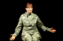 Mary Jane Wells in her play Heroine, telling the story of Army sexual assault survivor Danna Davis