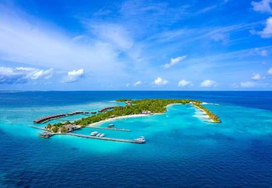 Beautiful, clear waters and pristine sandy beaches make Furanafushi island in The Maldives a stunning destination