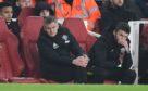 Ole Gunnar Solskjaer alongside another Old Trafford legend, Michael Carrick