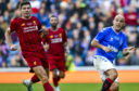 Steven Gerrard and Alex Rae in Legends' action