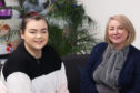 Libby McPherson (left) who was supported by the No Feart Community Interest Company, and Lynn Smillie, Founder and Managing Company Director