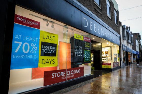 Debenhams store in Kirkcaldy
