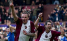 Ryan Stevenson celebrates scoring the winner in a 1-0 victory for Hearts over Rangers nine years ago