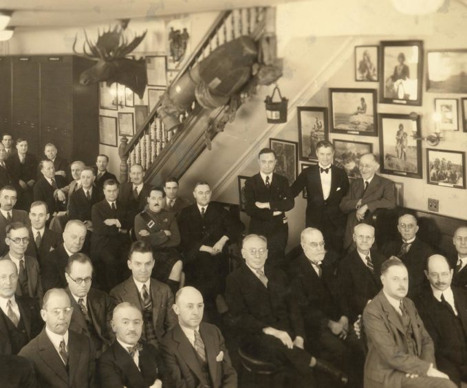 Members of The Explorers Club at their annual dinner in New York