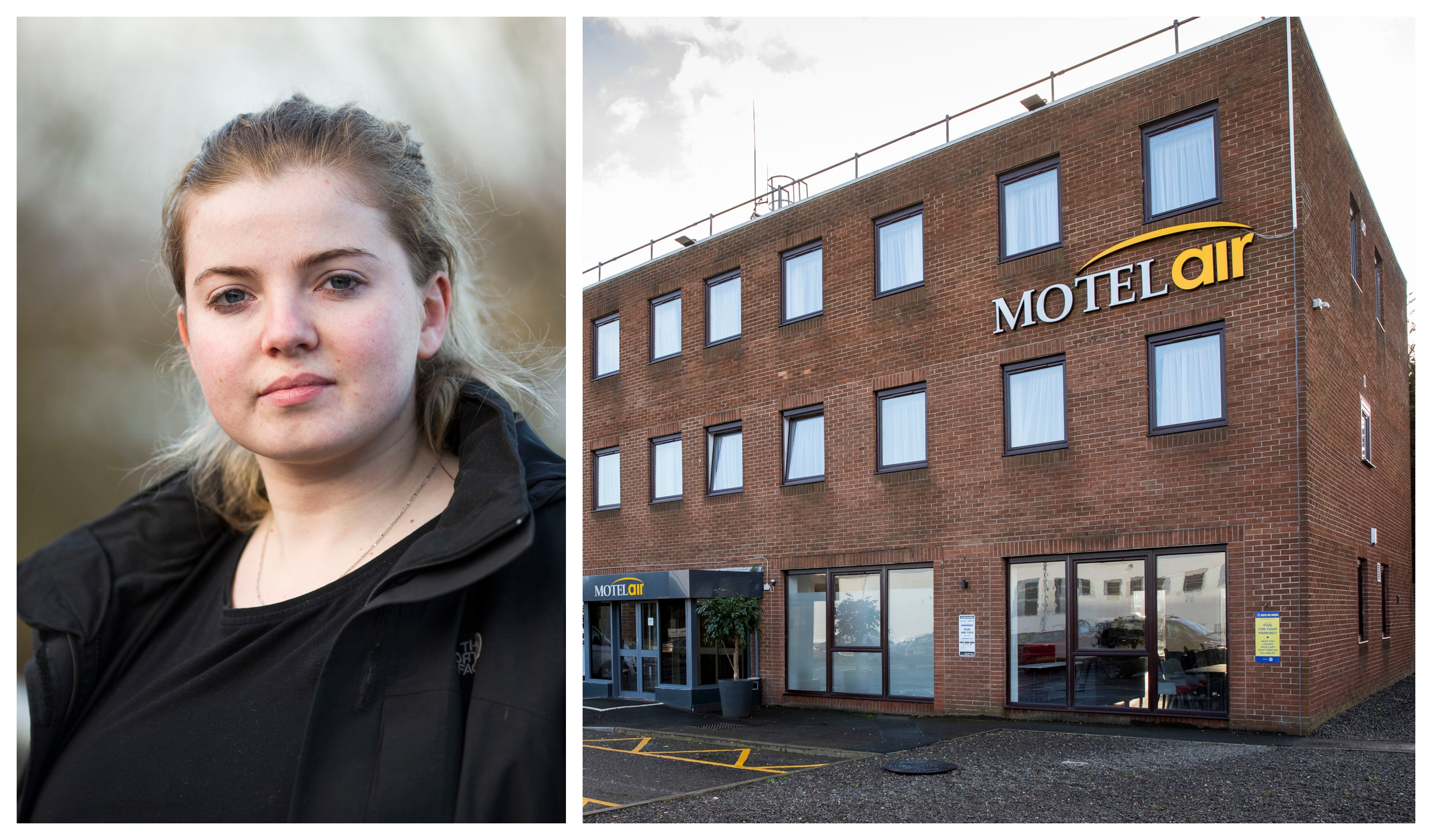 Louise Gillies and her friends stayed at the Motel Air in Paisley
