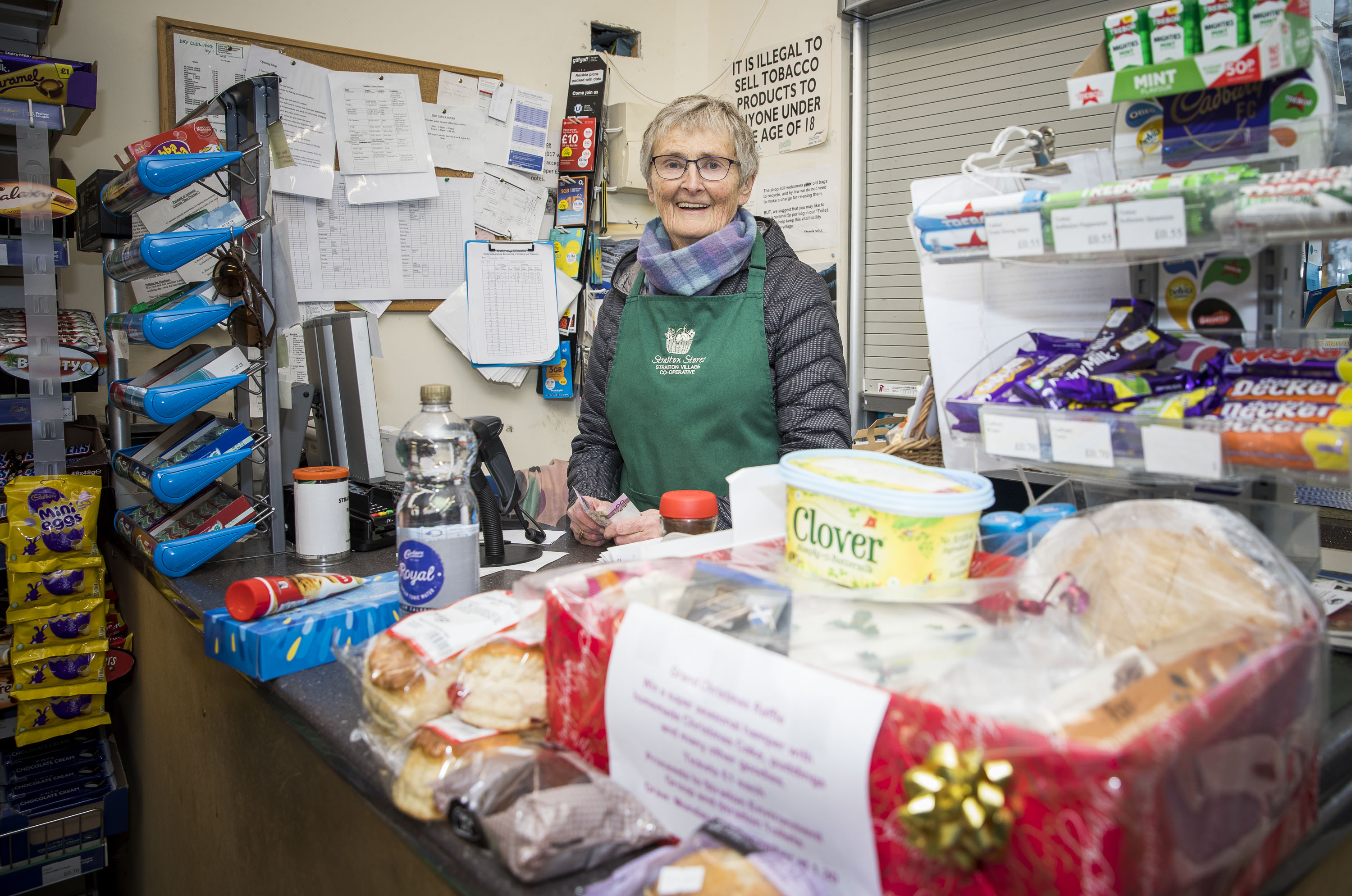Volunteer Jenny Morrison helps out in Straiton's community shop