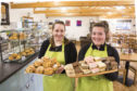 Linda Hannah and Meg Ross leave Scone Spy spoiled for choice with a mouthwatering selection of goodies in Overton Farm's cafe