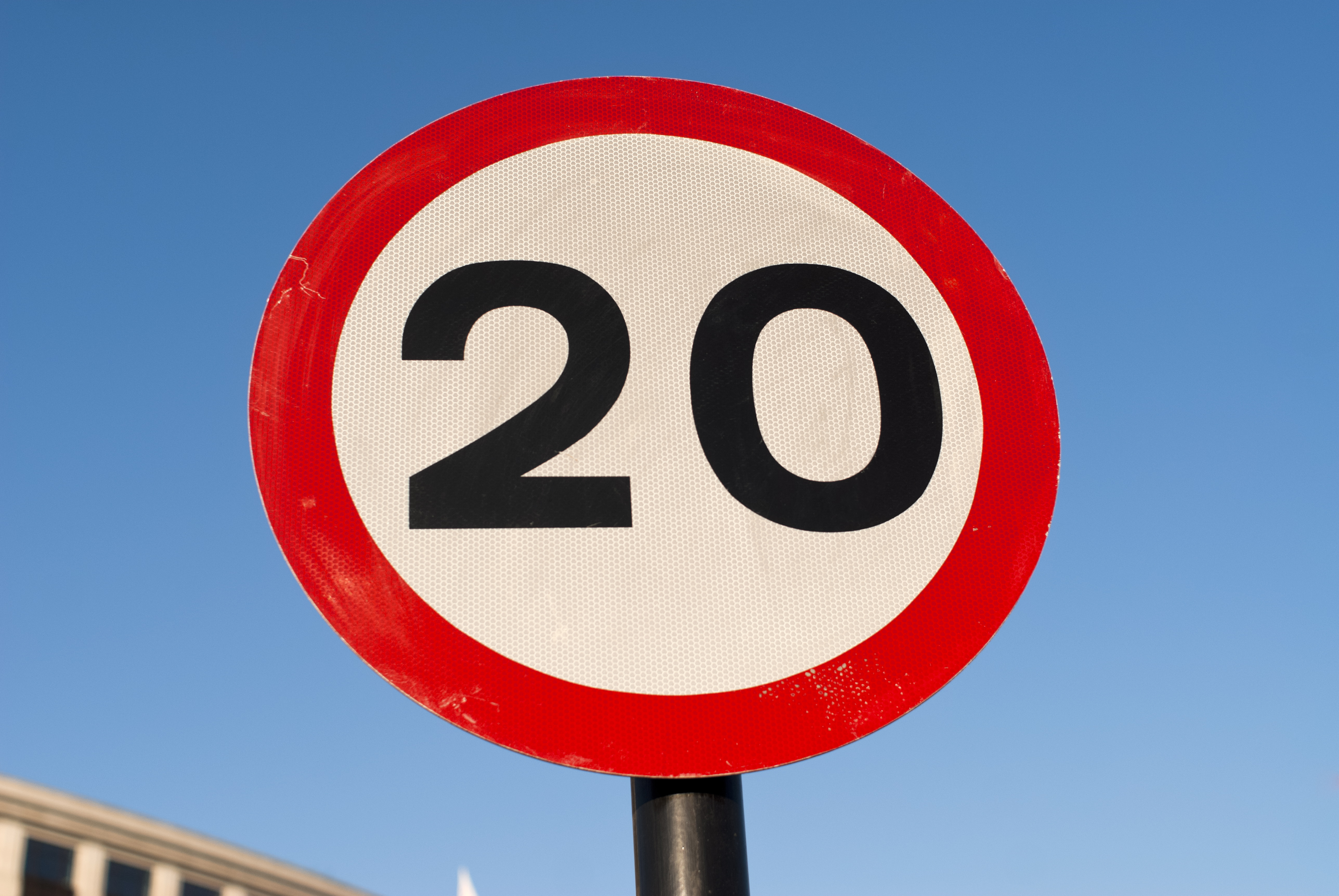 A 20mph limit will be applied across the city's roads