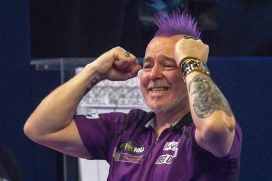 Peter Wright celebrates his win