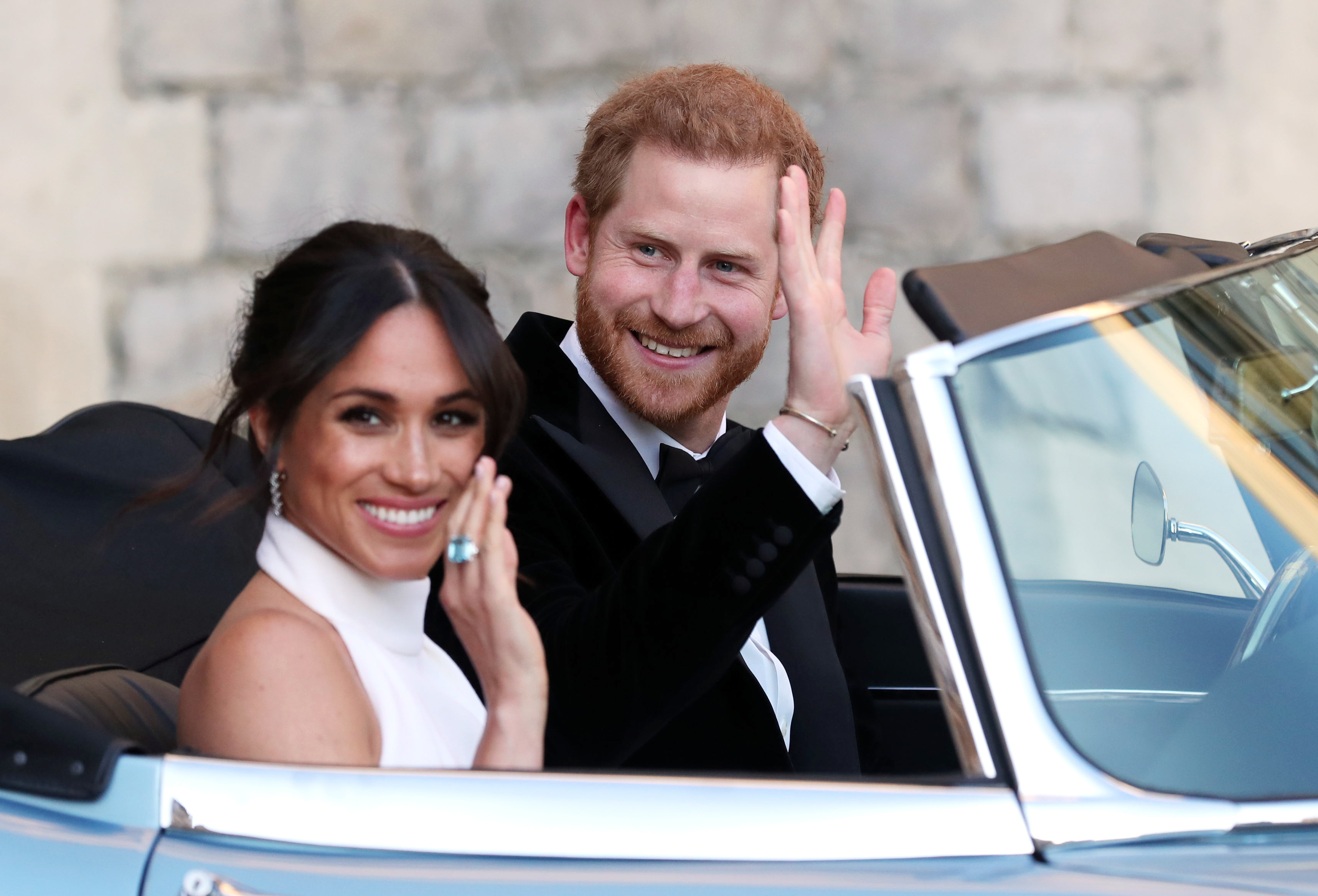 Harry and Meghan after their wedding