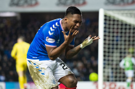 Alfredo Morelos has been having a frustrating time, witness his reaction to a chance going begging against Hibs in midweek