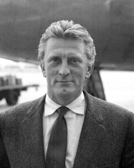 Actor Kirk Douglas, pictured in 1957, enjoyed one of the great Hollywood careers