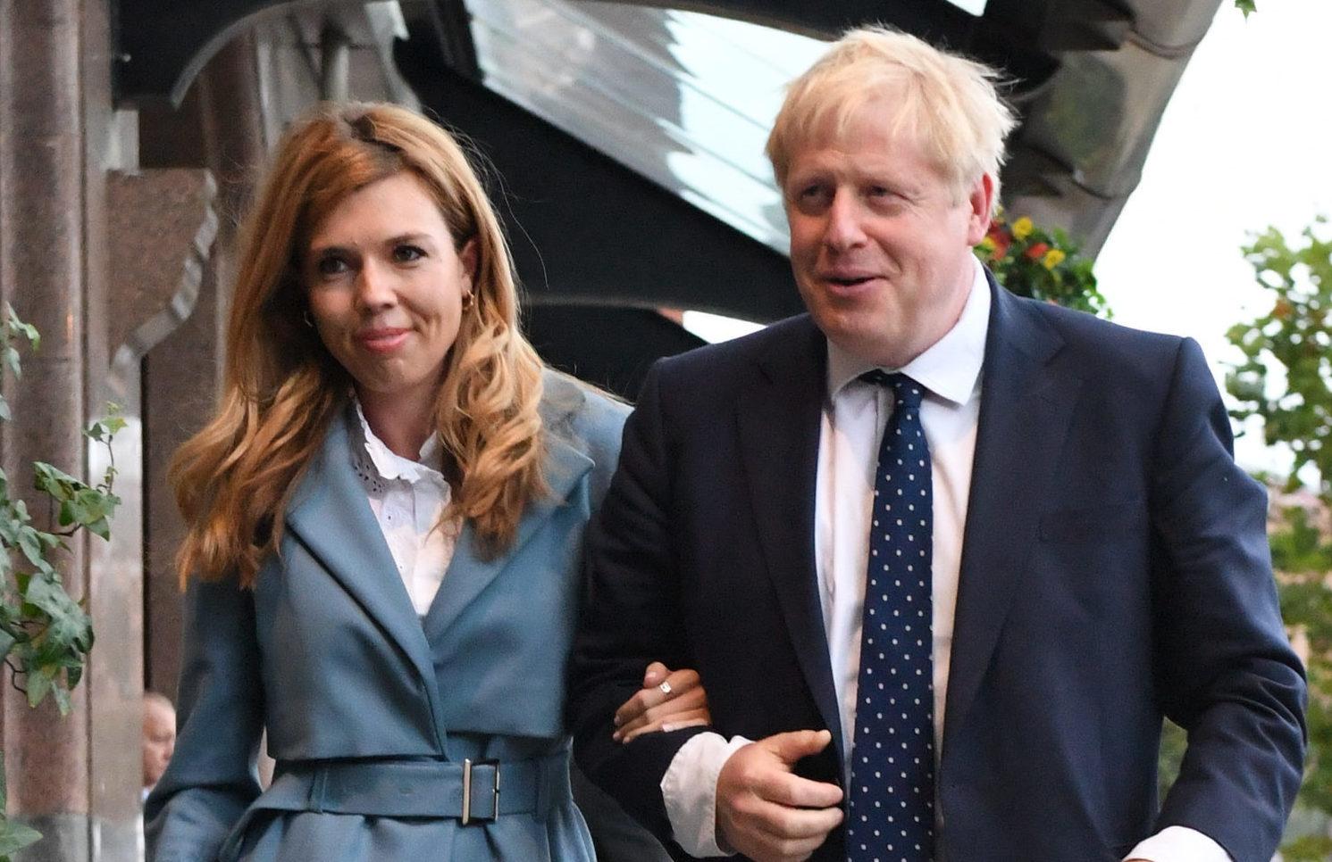 Prime Minister Boris Johnson with partner Carrie Symonds