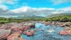 Looking down a Highland stream towards Beinn Dearg near Ullapool
