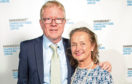 David and wife Gudrun pictured at a Parkinson's UK Comedy Gala in 2018