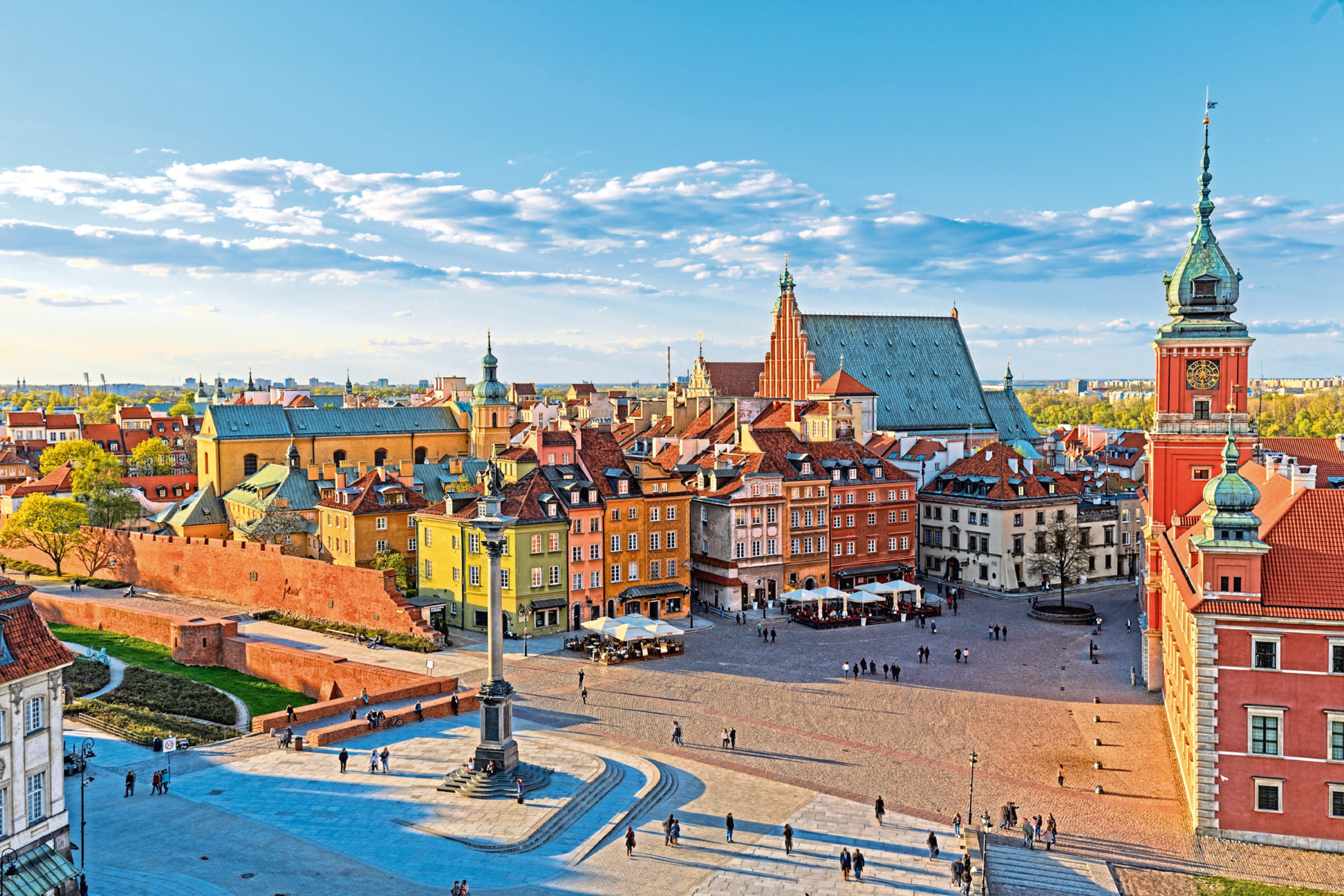 The old city in Warsaw