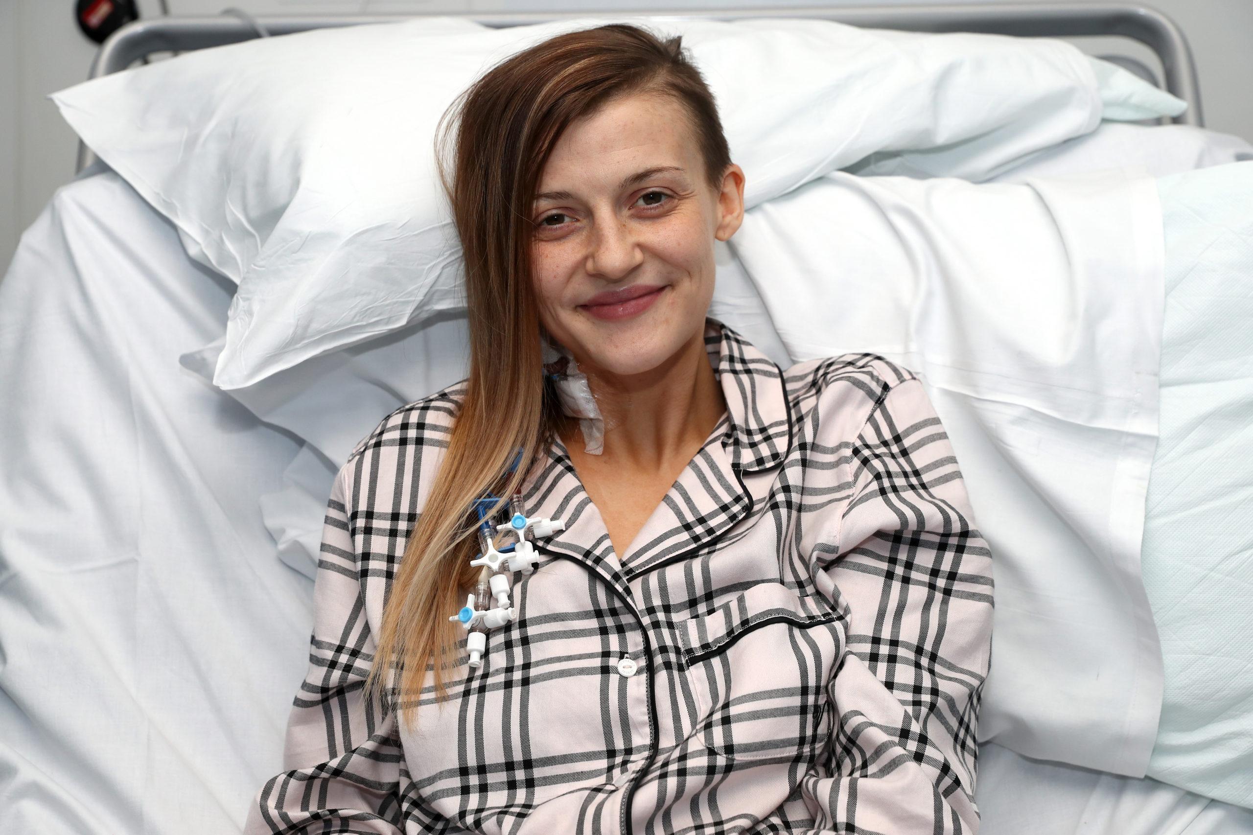 Jenna Cameron after the liver transplant in Birmingham