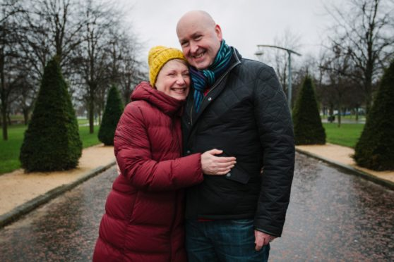 Heart transplant recipient Angela Hughes and her husband Paul