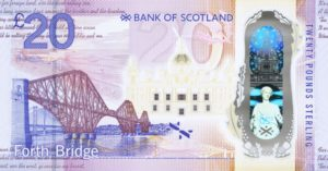 New Bank of Scotland polymer £20 note featuring Queensferry Crossing enters circulation