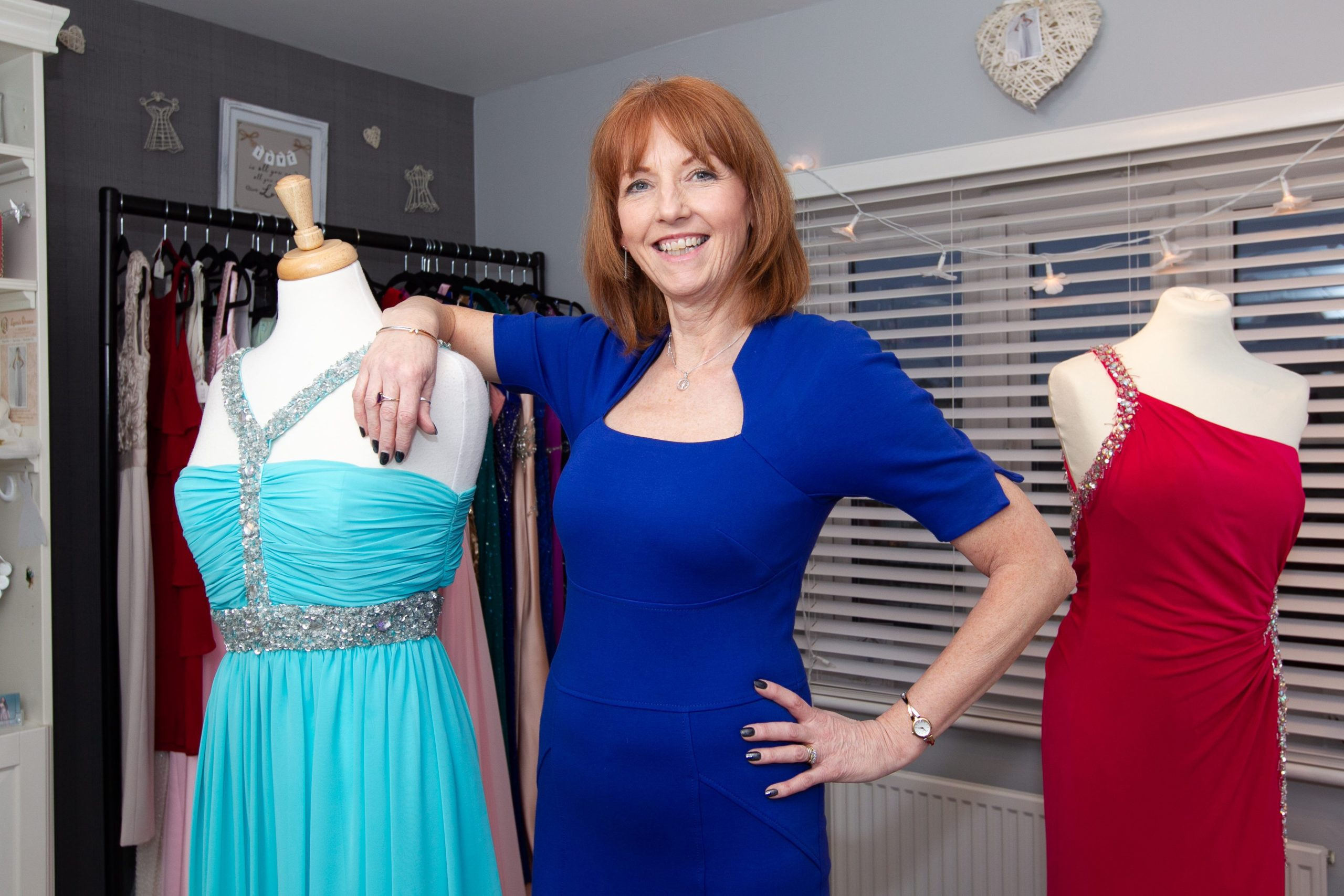 Laura McKinnon, who runs Laura's Dresses