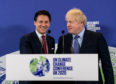 Prime Minister Boris Johnson (right) and Italian Prime Minister Giuseppe Conte at the launch of the next COP26 UN Climate Summit