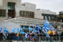 Independence rally at Holyrood