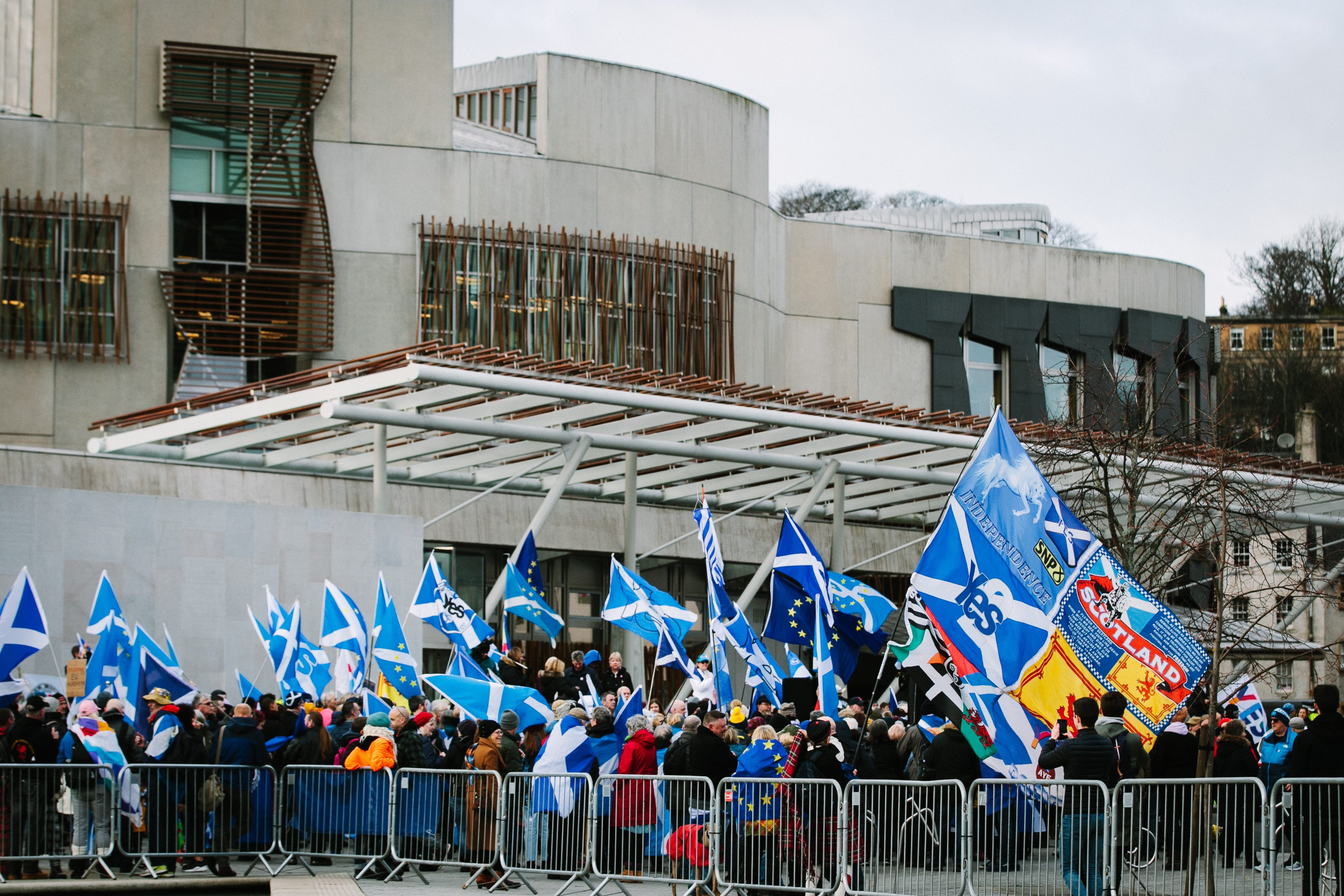 An independence rally at Holyrood