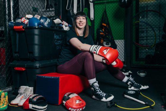 Boxer Jill Galbraith at the NewLife gym in Maryhill