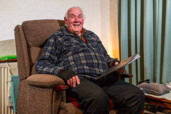 Pensioner Charles Taylor in his chair