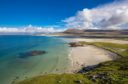 Enjoy a romantic stroll along Luskentyre Sands, on the Isle of Harris