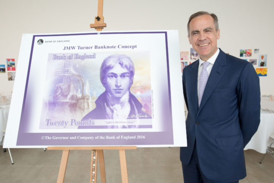 Mark Carney unveils the banknote