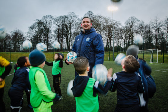 Martin Canning coaching a youth team