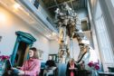 Eat long and prosper? Paolozzi's huge Vulcan statue looms over diners in the cafe named after the great artist