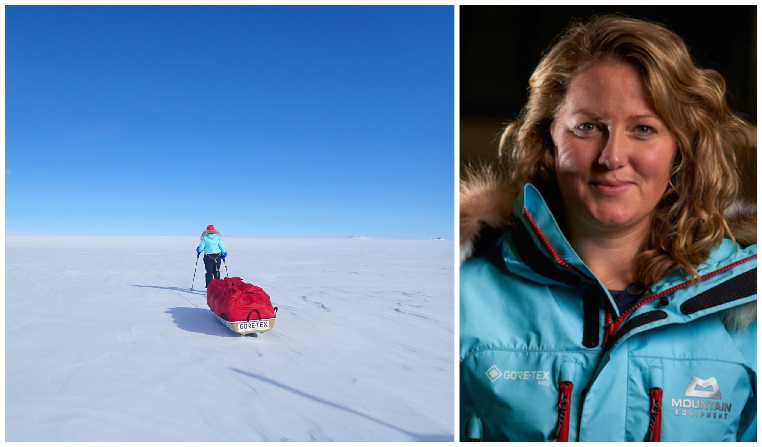 Mollie Hughes, who pulled a 105kg sledge across the Antarctic wastes, in temperatures as low as –45°C
