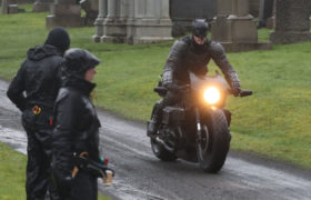 In pictures: Glasgow gets first glimpse of Batman as filming begins in the city's Necropolis