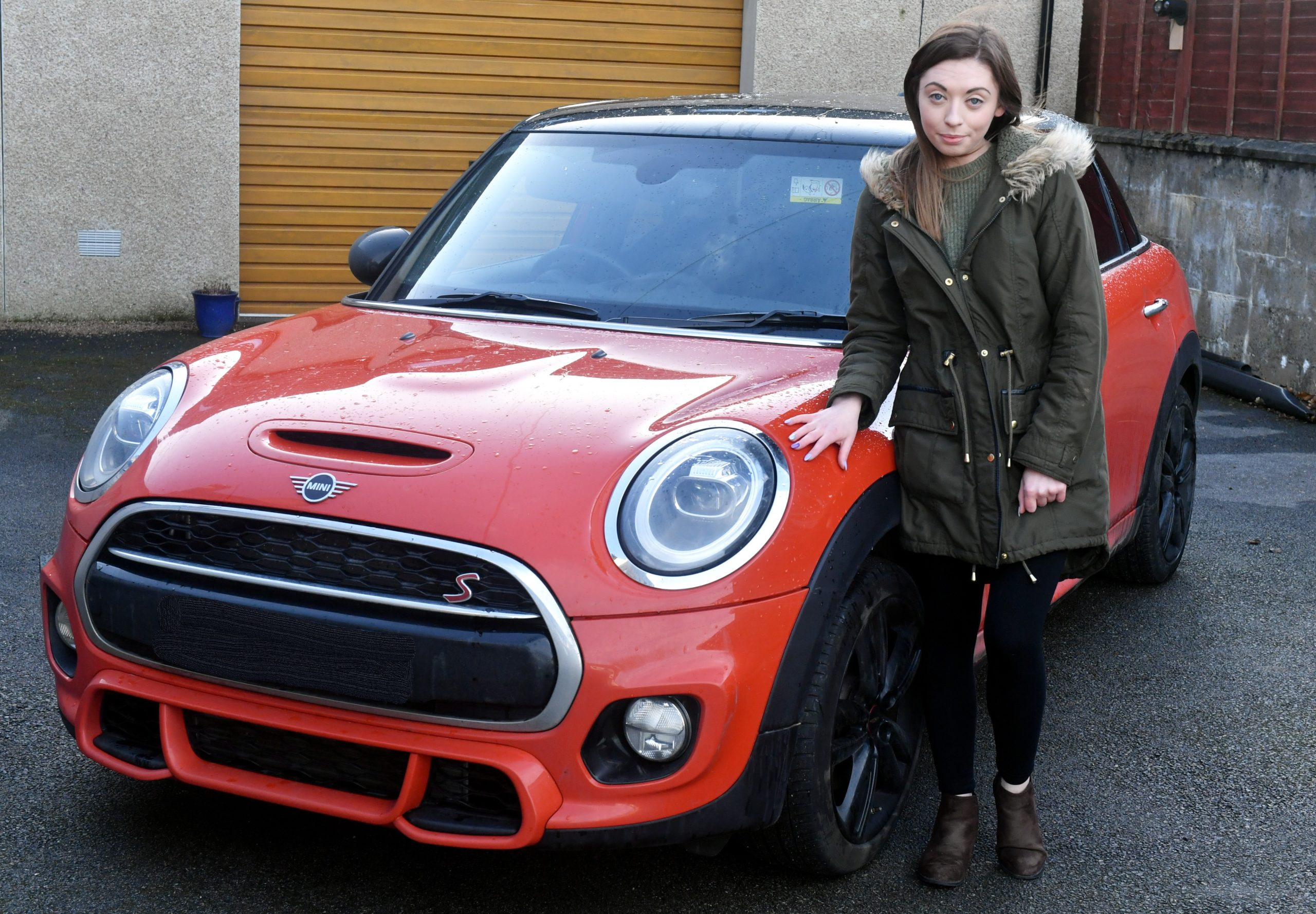 Pharmacy technician Louise Petrie with her £25,000 Mini