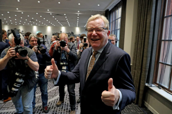 Jackson Carlaw following the announcement of the results
