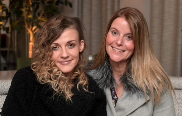 Jenna Cameron with her aunt Shona Evans-Morgan