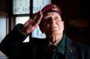 Veteran and former 'button boy' Myles Shandley, now 91, in Edinburgh last week