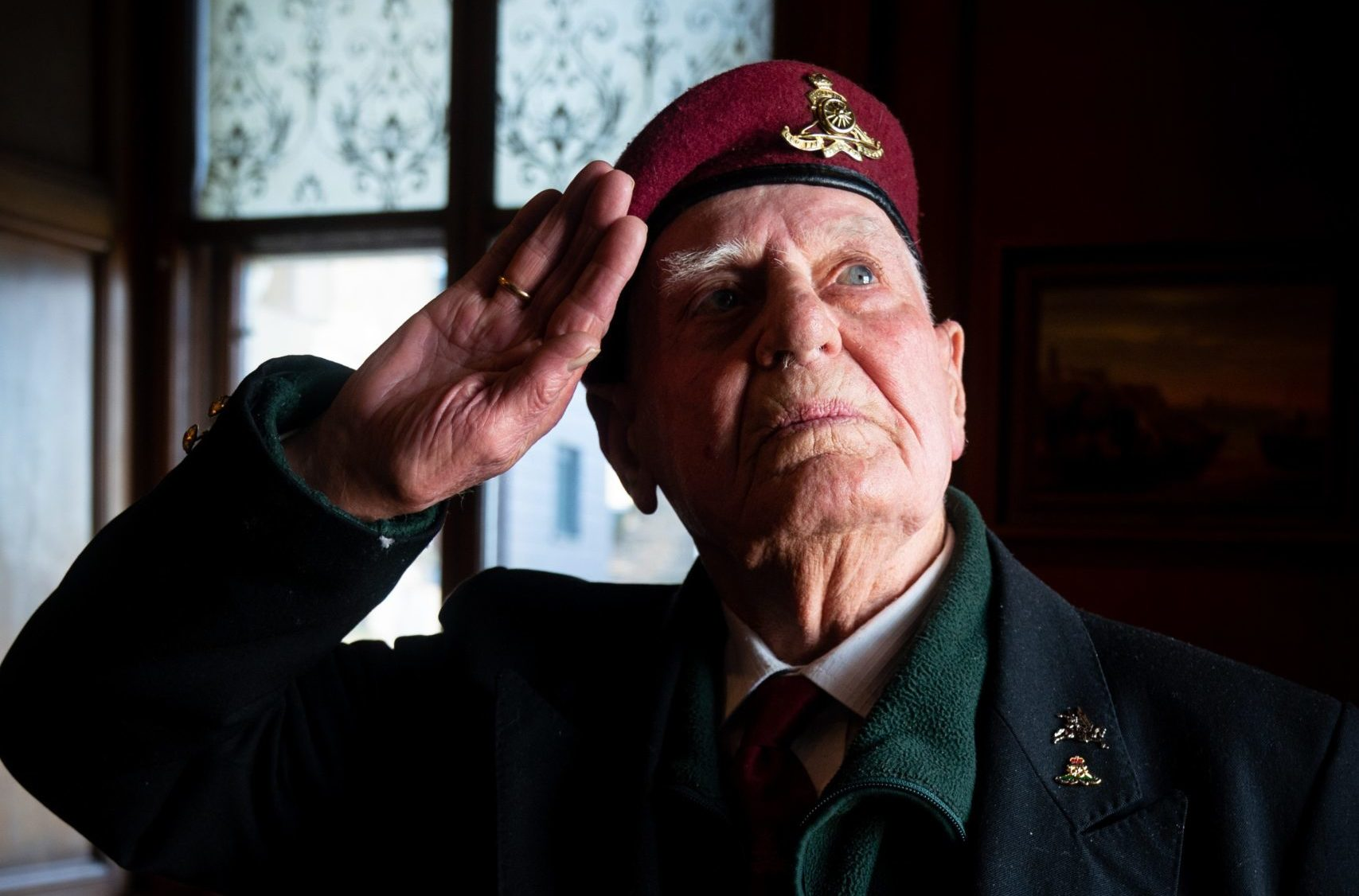 Veteran and former 'button boy' Myles Shandley, now 91, in Edinburgh last week