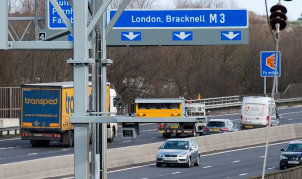 Smart motorway speed camera