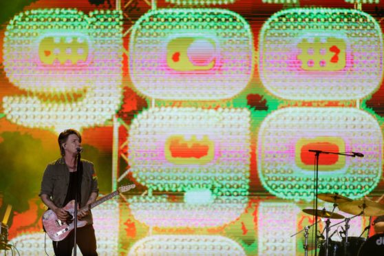 John Rzeznik of the Goo Goo Dolls performs at the Rock in Rio music festival