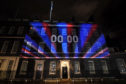 Brexit countdown projected onto 10 Downing Street