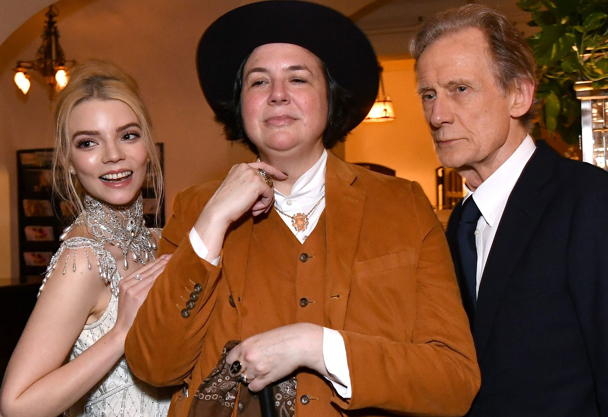 Anya Taylor-Joy, Autumn de Wilde and Bill Nighy at the Emma premiere after party in LA