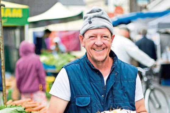 A trader at Galway's market