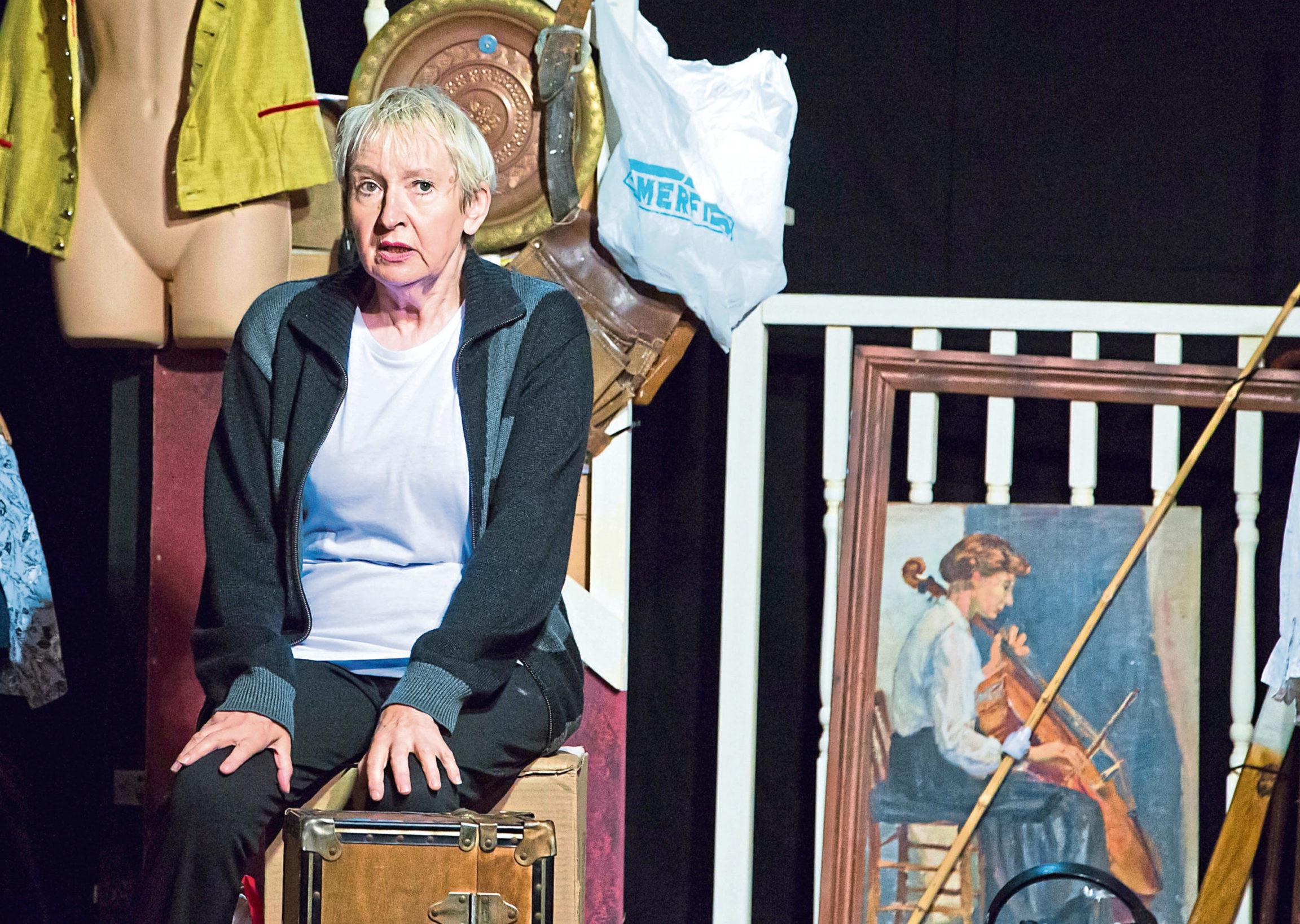 Su Pollard returns as hoarder Birdy in Fringe hit Harpy, her one-woman play