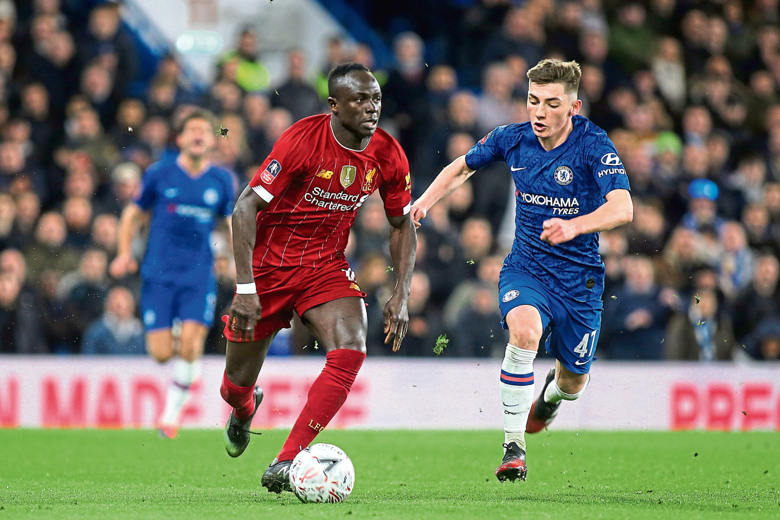 Billy Gilmour chases down Sadio Mane during Chelsea's recent clash with Liverpool